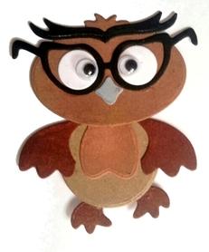 Wykrojnik Sowa w okularach do złożenia (W014)