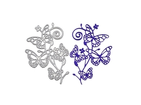 Wykrojnik Gałązka z motylami (W144)