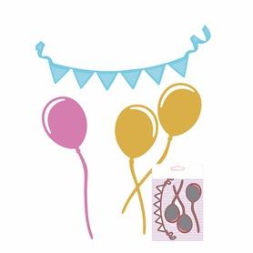 Wykrojnik Zestaw urodzinowy Balony i baner