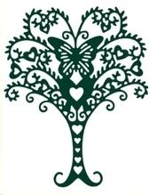 Wykrojnik AC Drzewo z motylem