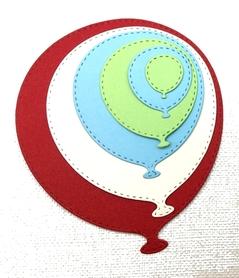 Wykrojnik AC Zestaw 6 balonów z przeszyciami(W307)