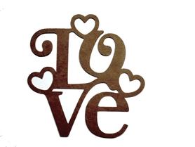 (P105) Napis LOVE + 3 serduszka
