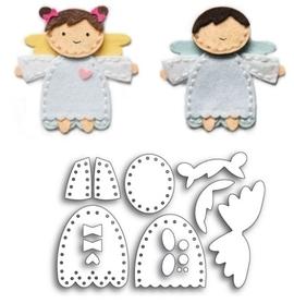 Wykrojnik do zrobienia aniołka Chłopca/Dziewczynki