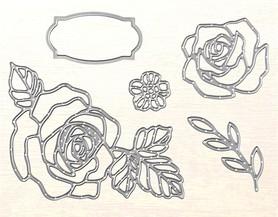 Zestaw wykrojników Róże 5 el. (0037)