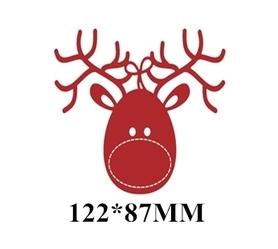 Wykrojnik Renifer świąteczny Duży (8468)
