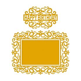 Wykrojnik Ramka ażurowa Happy Birthday 3 el.(0208)