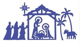 Wykrojnik Szopka Boże Narodzenie (W140)