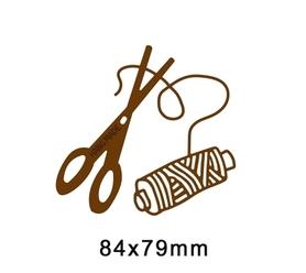 Wykrojnik Nożyczki i nitka (BD208)