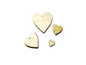 Drewniane serca serduszka - 10 szt.
