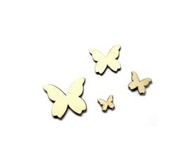Drewniane motyle motylki 4 rozmiary - 4 szt.