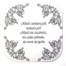 SCRAPKI (TAG1) Tag z napisem Ślub 'Miłość cierpliwa jest...'