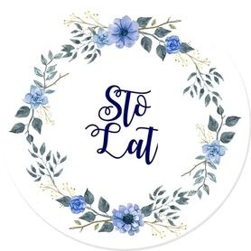 SCRAPKI (TAG4) Tag z napisem 'Sto Lat'