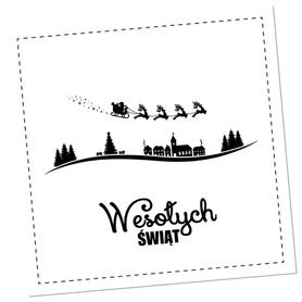 SCRAPKI (TAG9) Tag z napisem 'Wesołych Świąt'