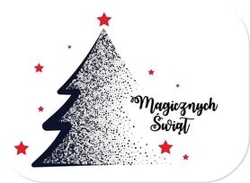 SCRAPKI (TAG14) Tag z napisem 'Magicznych Świąt'