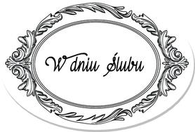 SCRAPKI (TAG18) Tag z napisem 'W dniu Ślubu'