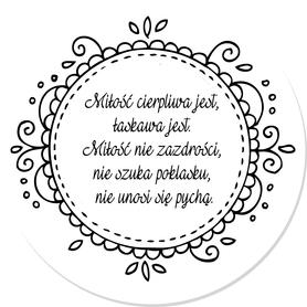 SCRAPKI (TAG30) Tag z napisem 'Miłość cierpliwa...