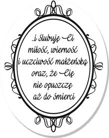 SCRAPKI (TAG31) Tag z napisem '...i ślubuję Ci...'