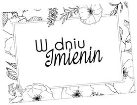 SCRAPKI (TAG32) Tag z napisem 'W dniu Imienin'