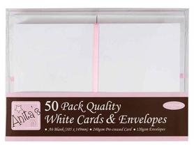 Zestaw kopert i kart A6 - Anita's - białe, 50 szt.