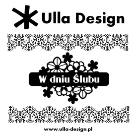 Wykrojnik ULLA DESIGN W dniu Ślubu (0818-02)
