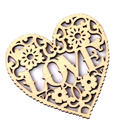 SCRAPKI Serce LOVE drewniane