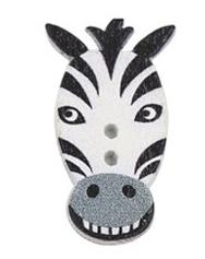 SCRAPKI Guzik Zebra