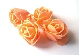 Kwiaty Róże piankowe 3 cm - łososiowe 10 szt.