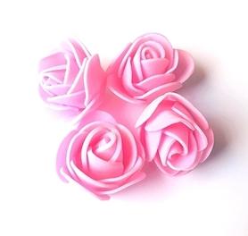 Kwiaty Róże piankowe 3 cm - różowe 10 szt.