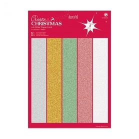 Zestaw papierów brokatowych A4 Christmas (15 szt.)