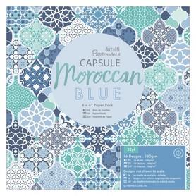 Papier ozdobny Moroccan Blue 15,2 x 15,2 cm