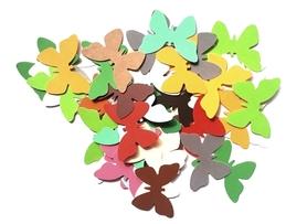 Scrapki (D2b) Motyle 4 cm 50 szt. mix kolorów