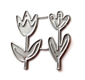 Wykrojnik Dwa kwiatki Tulipan