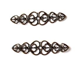 (OM1) Motyw Ornament ażurowy metalowy 2 szt.