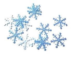 (OR1) Śnieżynki z włókniny 2 cm niebieskie 20 szt.