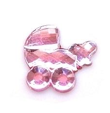 (OR2) Wózek akrylowy 1,5x1,6 cm różowy 10 szt.
