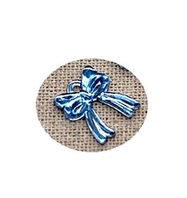 (OR2) Kokardka akrylowa 1,2x1,4cm niebieska 10 szt