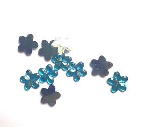 (OR2) Kwiatek akrylowy 1 cm niebieski 20 szt