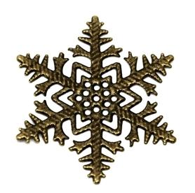 (OM2) Śnieżynka metalowa 4 szt.
