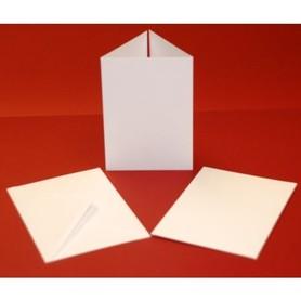 Zestaw kartek i kopert składanych A6 10 szt białe