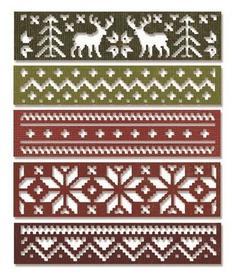 Wykrojnik Sizzix Thinlits - Snowfall & Holiday Knit