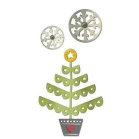 Wykrojnik Sizzix Thinlits 3el Christmas Tree