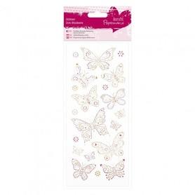 Naklejki z brokatem Glitter Dot Motylki