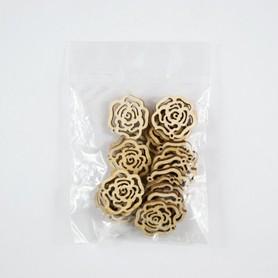 Róże z drewna 20 el.