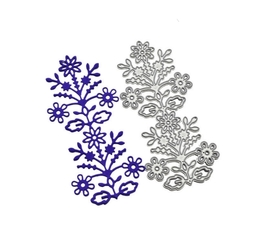 Wykrojnik Scrapbooking Kwiatek Ornament Folklor