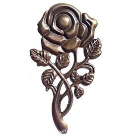 (OM2) Róża metalowa 4x8 cm