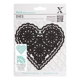 Wykrojnik Xcut Filigree Heart - Koronkowe Serce