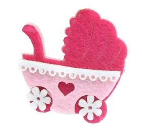 Wózek z filcu - różowy