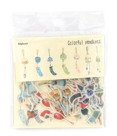 Zestaw naklejek - Colorful pendants - 40 szt.