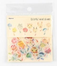 Zestaw naklejek - Colorful wind chimes - 40 szt.