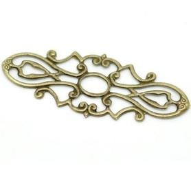 Ornament dekor metalowy - 38x15mm 4 szt.